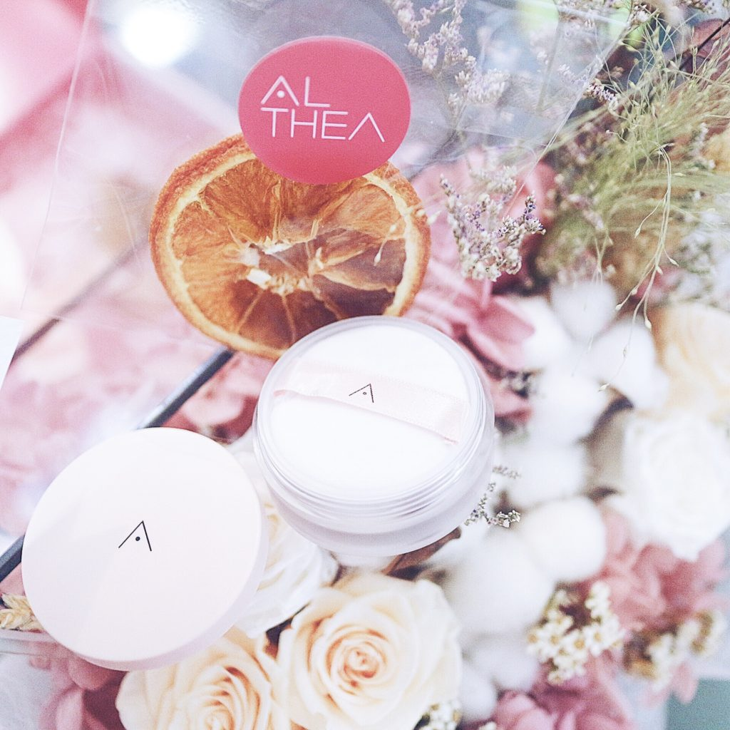 althea, makeup, loose powder, beauty blogger. k makeup, korean makeup